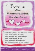 Love is What Anniversaries Are All About Card